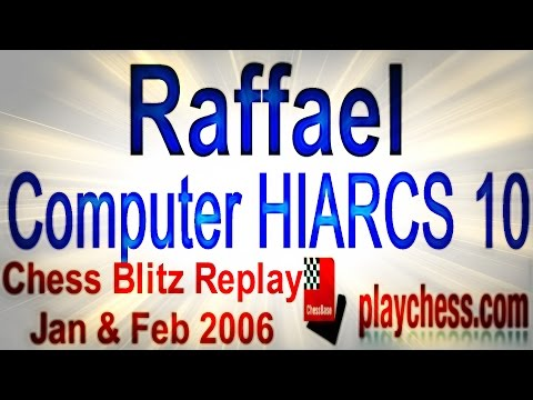 ♚ Garry Kasparov (Raffael) vs Comp HIARCS 10 ☆ Man vs Machine/Chess Blitz Replay/ Playchess.com 2006