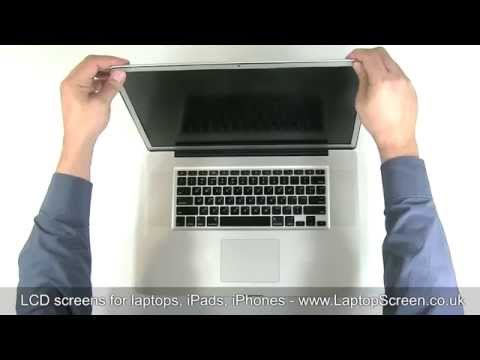 MacBook Pro 17 - how to replace laptop screen