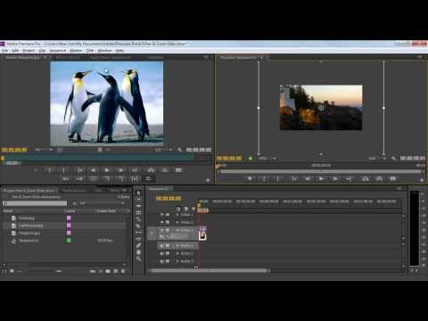 How to Make a Slideshow in Adobe Premiere