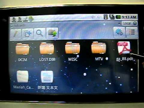 Gindart Android Tablet PC SP-58 Ebook PDF TXT Video