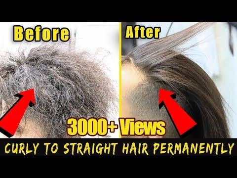 2018 Curly to Straight hair in 5 minutes Permanently | Mens Curly To Straight Hair Tutorial |