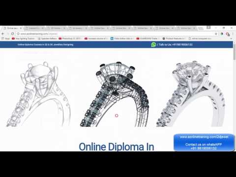 Online Jewellery Designing Courses (CAD/CAM) - Free Demo Class