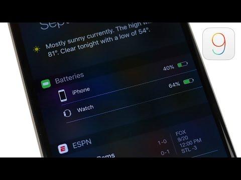 iOS 9 - New Battery Widget!