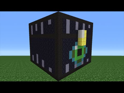 Minecraft Tutorial: How To Make An Ender Chest Statue