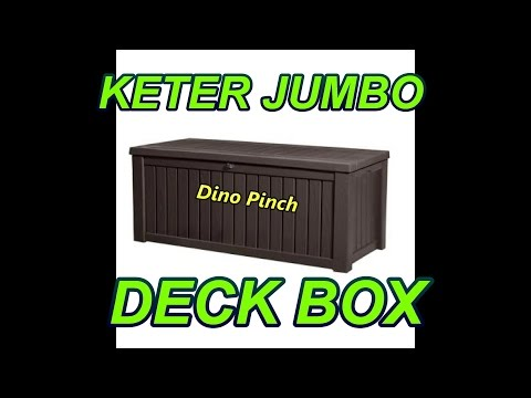 KETER JUMBO DECK BOX assembly