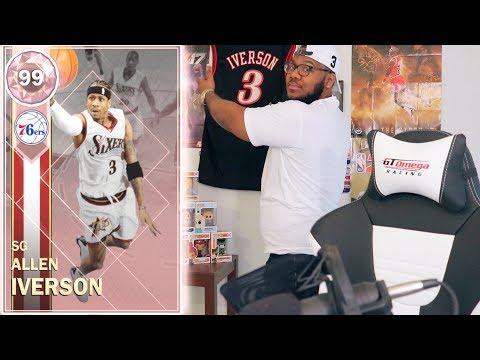 99 OVR PINK DIAMOND ALLEN IVERSON!! NBA 2k18 MyTEAM Ep.8