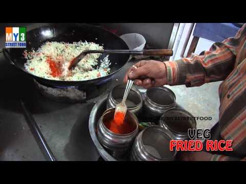 VEG FRIED RICE - STREET FOOD AROUND THE WORLD - HYDERABAD street food