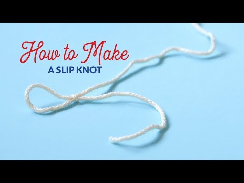 How to Make a Slip Knot for Knitting | Hands Occupied