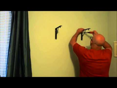 Installing A Wood Shelf On The Wall (With Brackets)