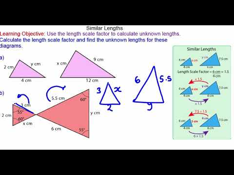 Calculating lengths in similar shapes