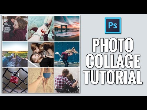How to Create Square Photo Collage Photoshop Tutorial