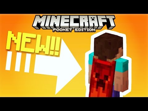 ✔️Minecraft PE - NEW CAPES!! // Capes NO MODS in Minecraft Pocket Edition! iOS & Android [MCPE]
