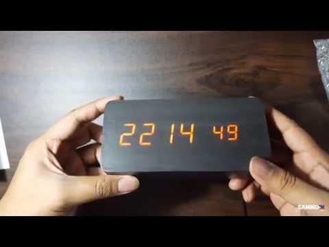 Digital LED Wooden Clock from eBay