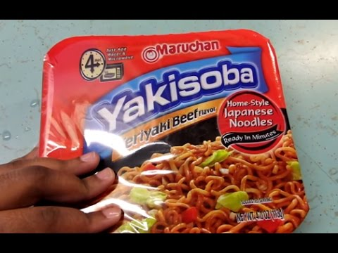 Maruchan Yakisoba Beef Teriyaki Flavor - Food Review