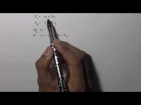 Condition For Equality of Complex Numbers (Hindi)