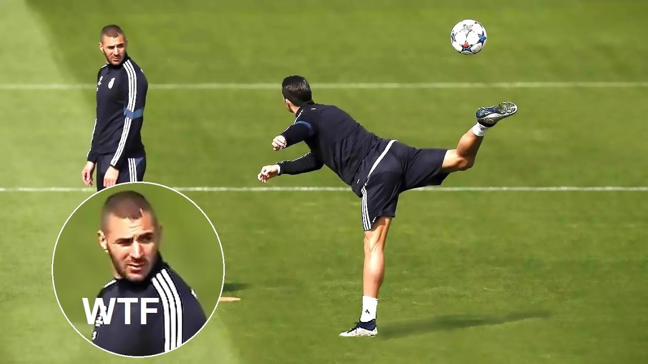 Cristiano Ronaldo Doing Crazy Things in Training !!
