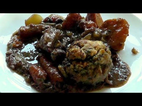BEEF CASSEROLE with DUMPLINGS How to Make recipe