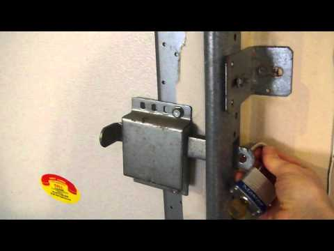 lock garage from inside using side latch.MP4