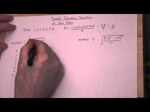 Statistics : Sample Standard Deviation and Variance