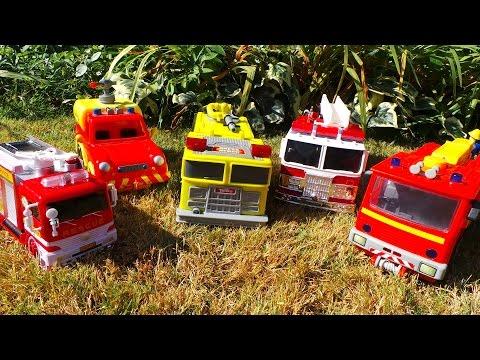 Feuerwehrmann Fireman Sam Top 5 Fire Engines inc., Jupiter Fire Engine + VENUS Fire Truck kids video