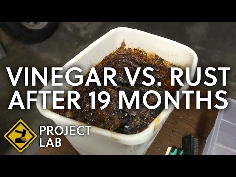 Vinegar rust removal, 19 months later (vlog)