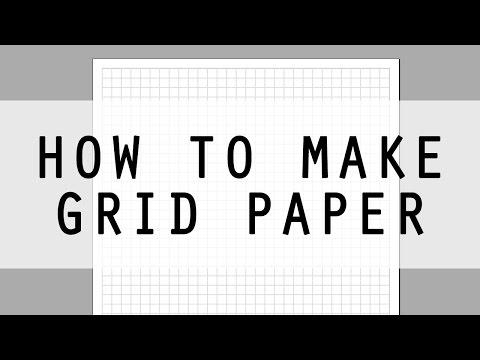 How to Make Grid Paper using WordArt - Easy DIY Printable