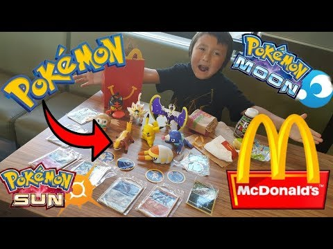 SECRET Way To Get Every POKEMON TOY At MCDONALDS In 1 HAPPY MEAL!! EARLY Sun & Moon POKEMON CARDS!!
