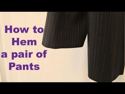 How to EASILY Hem Pants