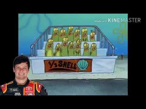 NASCAR Drivers portrayed by SpongeBob