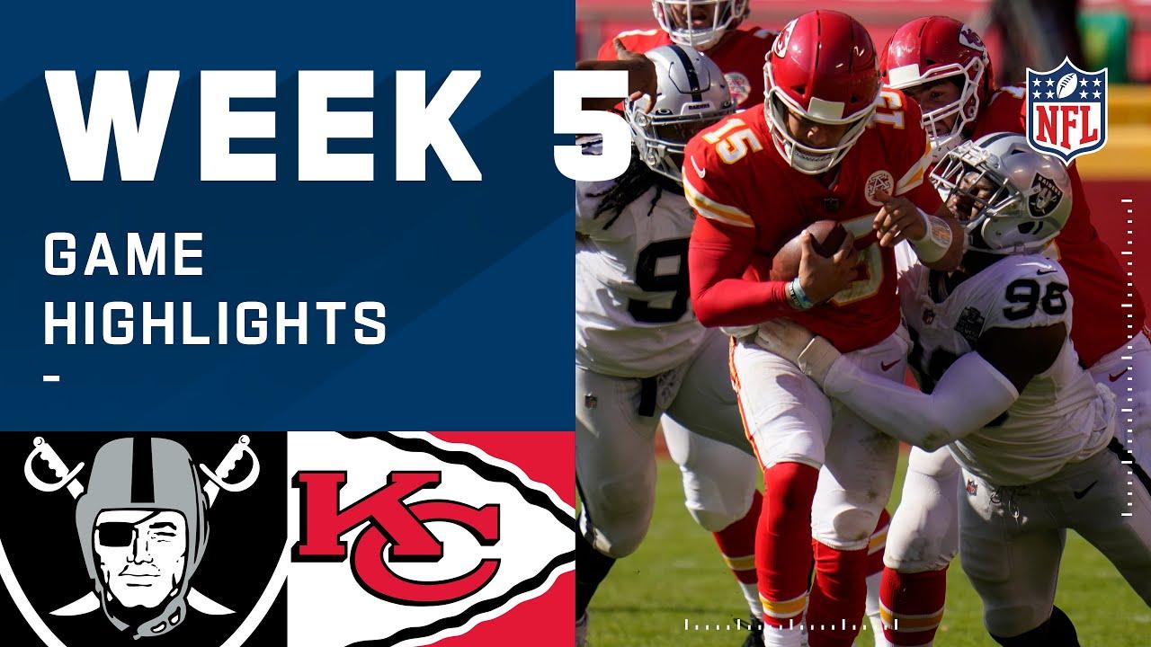 Raiders vs. Chiefs Week 5 Highlights | NFL 2020
