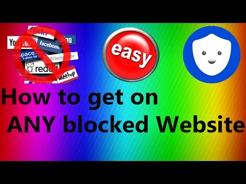 How To Access ALL Blocked Websites at School/College/Work 2016