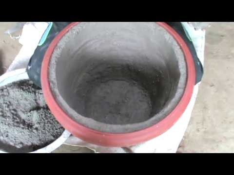 How to make BIG cement or concrete pots (20'' Inches). DIY Planters (English Sub tittles)