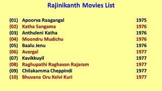 Rajinikanth Movies List