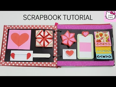 Scrapbook Tutorial/How to make Scrapbook/DIY Scrapbook Tutorial/Birthday Scrapbook Ideas