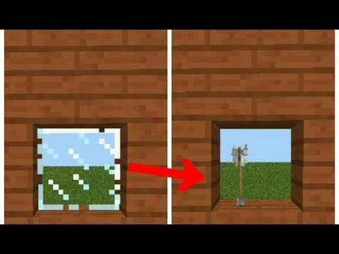 ✔Minecraft PE: How to break glass with bow & arrow|MCPE Command block creation