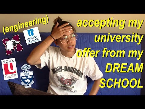 I GOT INTO MY DREAM SCHOOL! (accepting university offer)