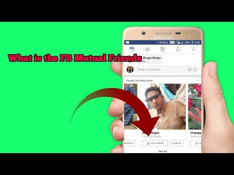 (Hindi) What is the Mutual Friend on Facebook | fb Mutual friend |  par Mutual Friends kya hote hai
