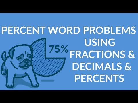 ʕ•ᴥ•ʔ Simple Percent Word Problems using Fractions, Decimals and Percents