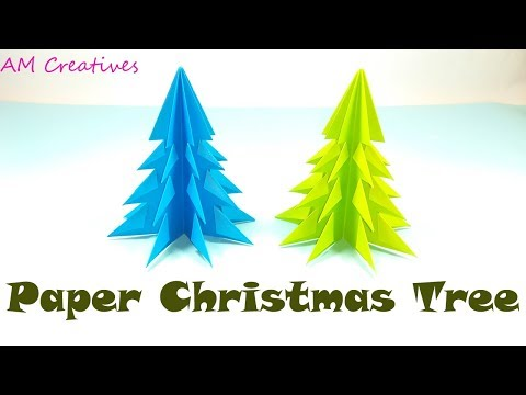 DIY 3D Paper Christmas Tree Tutorial | How to Make 3D Paper Xmas Tree |
