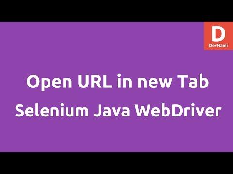 Open URL in New Tab using Selenium Java