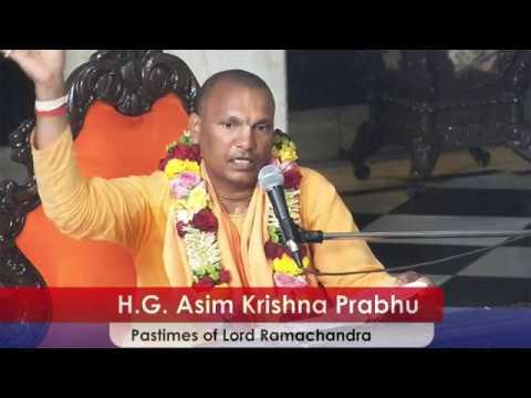 Pastimes of Lord Ramachandra by H G Asim Krishna  Prabhu at ISKCON Juhu on 20th Mar 2018