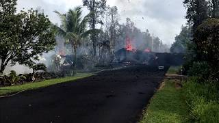 Kilauea volcano USGS Eruption Update: 6 Fissures, Strong Earthquakes (May 4, 2018)
