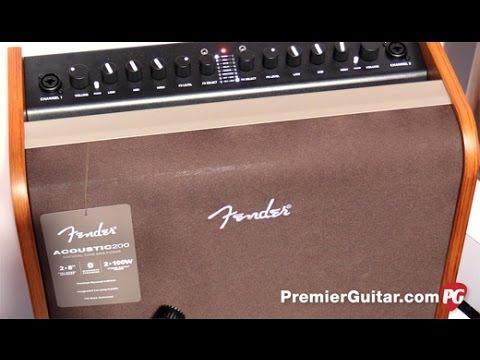 NAMM '17  - Fender Acoustic 100, Acoustic 200, & Acoustasonic 40 Amp Demos