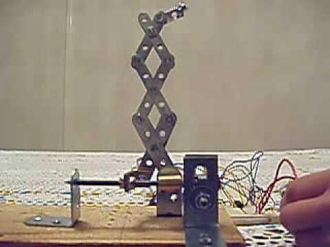 Scissor lift & motor set-up