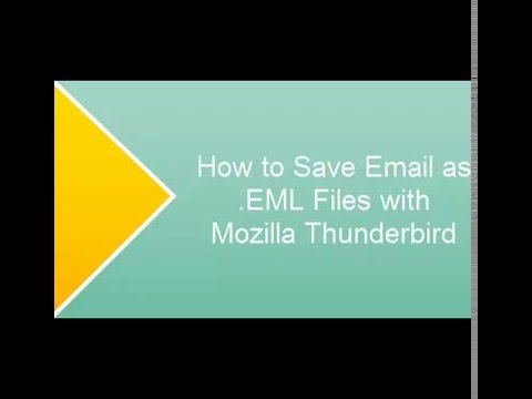 How to Convert Email to EML files with Thunderbird