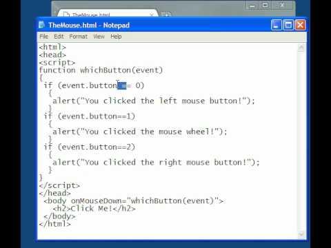 HTML 5 Javascript Lesson-13  The Mouse Input