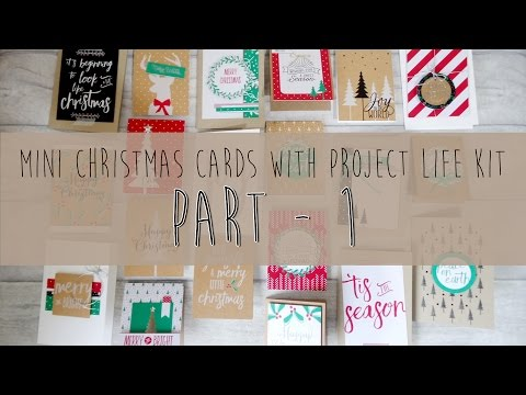 Part1-Mini Christmas cards with Project Life Kit_Sunday Christmas/Holiday_#16_2016(Stampin up)