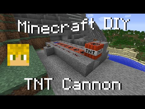 Minecraft DIY - How to Make a TNT Cannon - 1.7.10 Tutorial