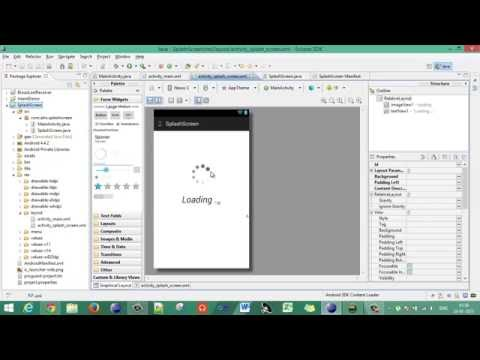 Android - Eclipse - 02 - Creating a Custom Splash Screen - Tutorial