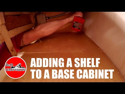 Adding a Shelf to a Base Cabinet